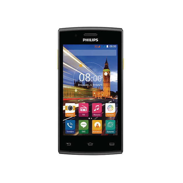 Смартфон Philips S307 4Gb (Цвет: Black/Yellow)