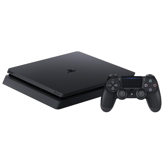 Игровая консоль Sony PlayStation 4 Slim CUH-2108A черный в комплекте: 3 игры: Gran Turismo Sport, Uncharted 4, Horizon: Zero Dawn