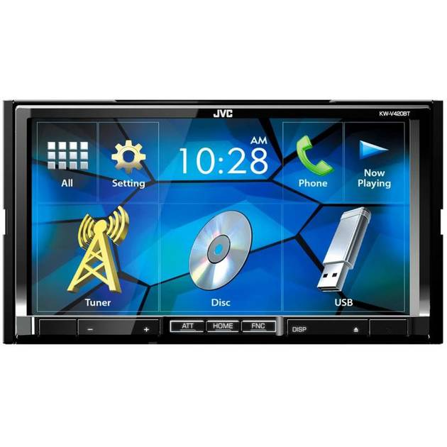 Автомагнитола CD DVD JVC KW-V420BT 2DIN 4x50Вт