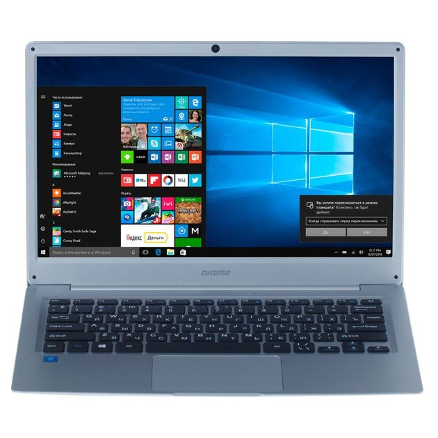 Ноутбук Digma EVE 300 Atom X5 Z8350/2Gb/SSD32Gb/Intel HD Graphics 400/13.3