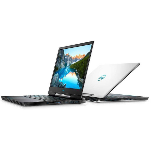 Ноутбук Dell G5 5590 Core i7 9750H/16Gb/1Tb/SSD256Gb/nVidia GeForce RTX 2060 6Gb/15.6/IPS/FHD (1920x1080)/Windows 10/white/WiFi/BT/Cam