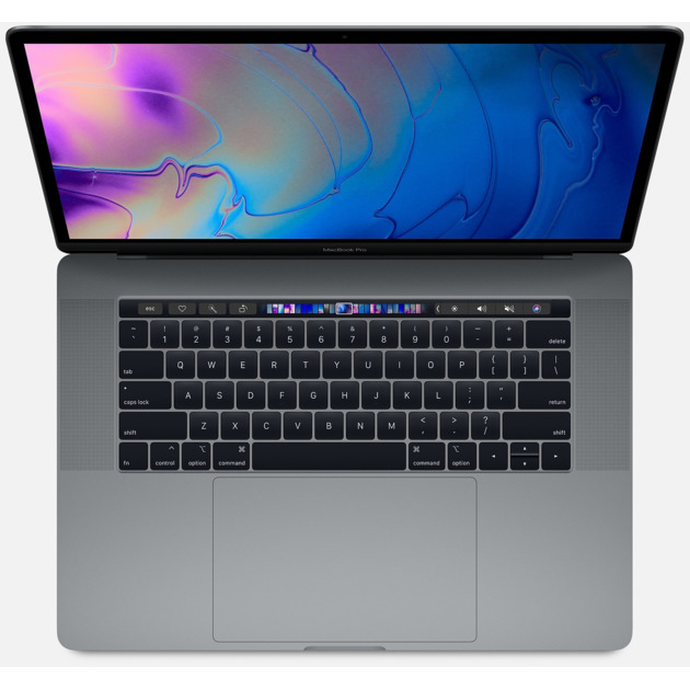 Ноутбук 15-inch MacBook Pro with Touch Bar: 2.3GHz 8-core 9th-generation Intel Core i9 (TB up to 4.8GHz)/16Gb/512GB SSD/Radeon Pro 560X with 4GB of GDDR5 memory - Space Grey