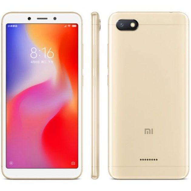 Смартфон Xiaomi Redmi 6A 2/16Gb Global (Цвет: Gold)