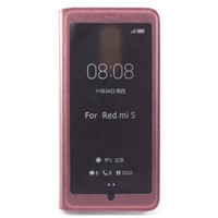 Чехол-книжка Case Xiaomi Redmi 5 Plus (Цвет: Wine red)