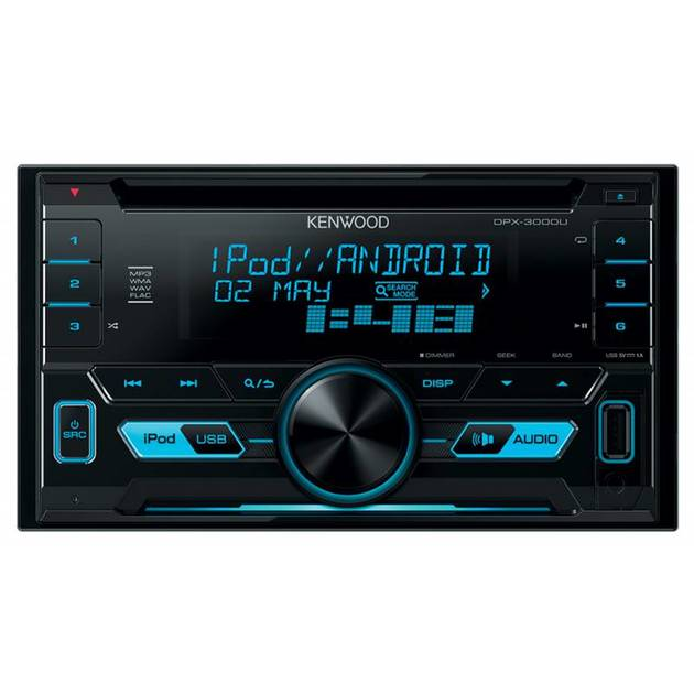 Автомагнитола CD Kenwood DPX-3000U 2DIN 4x50Вт