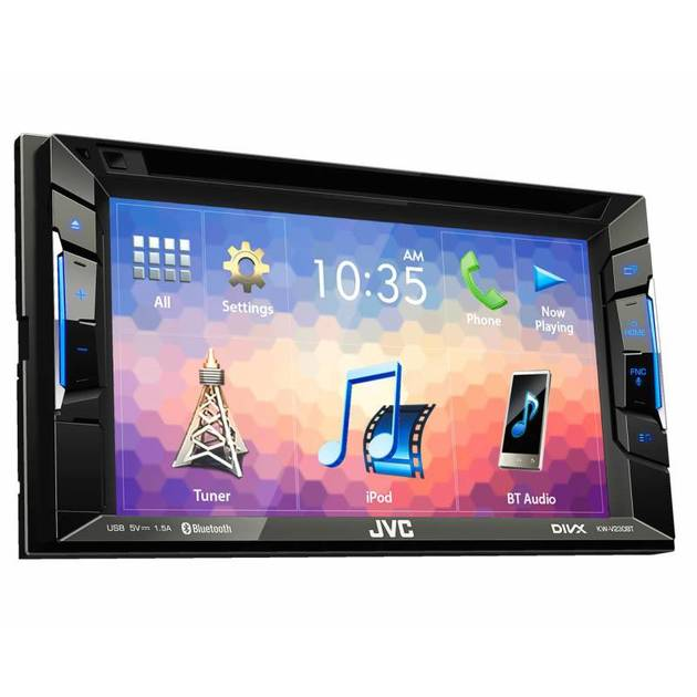 Автомагнитола CD DVD JVC KW-V230BT 2DIN 4x50Вт