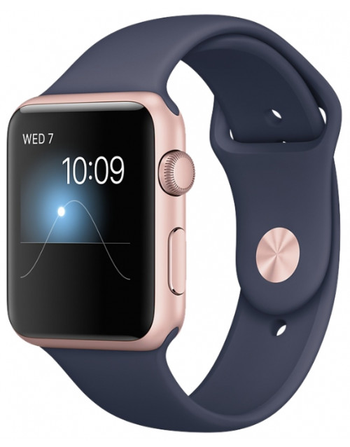 Умные часы Apple Watch Series 1 42mm with Sport Band (Цвет: Rose Gold / Midnight Blue)