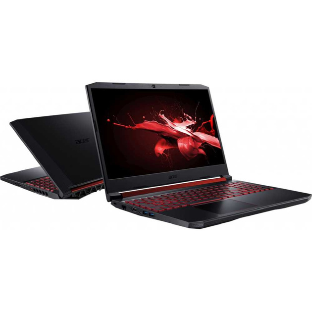 Ноутбук Acer Nitro 5 AN515-54-52Q7 Core i5 9300H/8Gb/SSD1Tb/nVidia GeForce GTX 1660 Ti 6Gb/15.6/FHD (1920x1080)/Linux/black/WiFi/BT/Cam