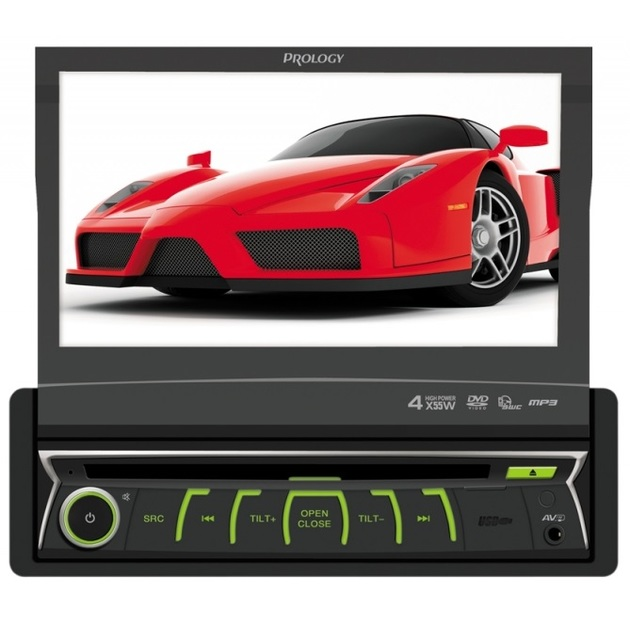 Автомагнитола CD DVD Prology MDD-720 1DIN 4x50Вт
