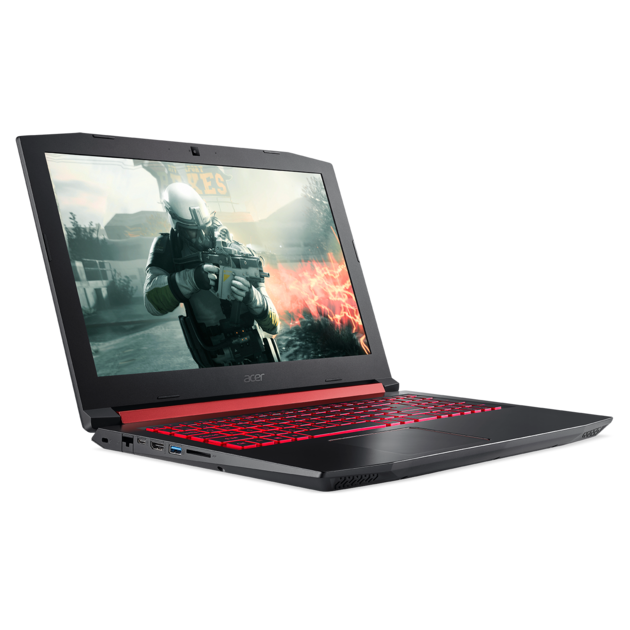 Ноутбук Acer Nitro 5 AN515-54-52N7 15.6'' FHD(1920x1080) IPS/Intel Core i5-9300H 2.40GHz Quad/8GB+512GB SSD/GF GTX1650 4GB/WiFi/BT4.1/1.0MP/3in1/4cell/2.70kg/Linux/1Y/BLACK