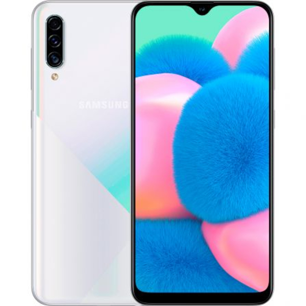 Смартфон Samsung Galaxy A30s SM-A307FN/DS 32Gb (Цвет: Prism Crush White)