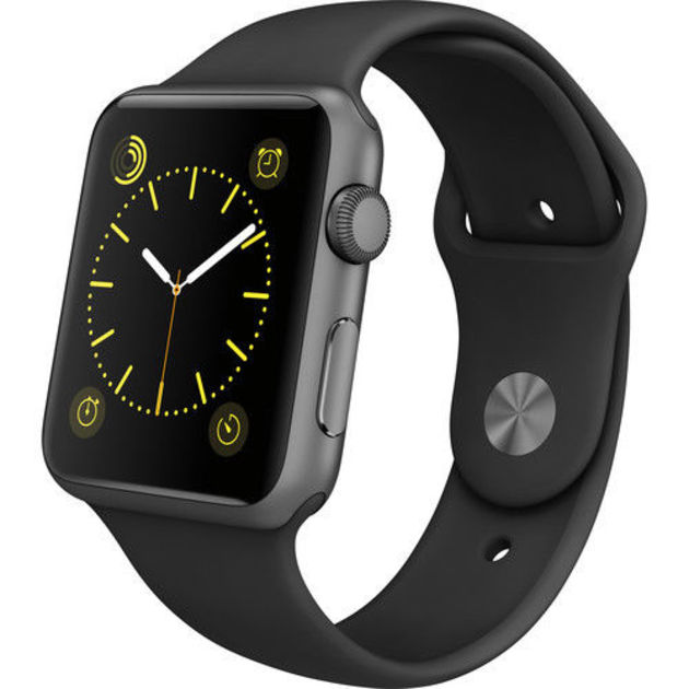 Умные часы Apple Watch Series 3 42mm Aluminum Case with Sport Band (Цвет: Space Gray/Black)