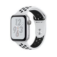 Умные часы Apple Watch Series 4 GPS 40mm Aluminum Case with Nike Sport Band (Цвет: Silver/Pure Platinum and Black)