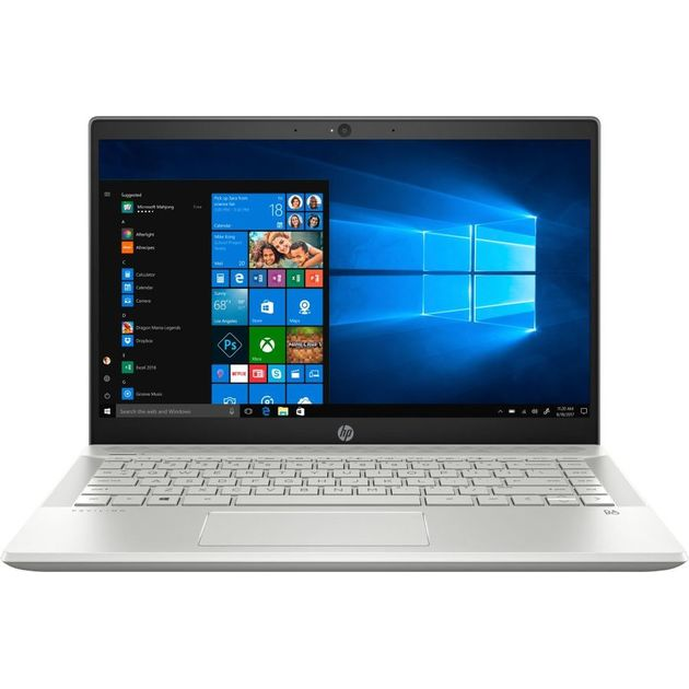 Ноутбук HP Pavilion 14-ce1001ur Core i5 8265U/4Gb/1Tb/nVidia GeForce Mx130 2Gb/14/IPS/FHD (1920x1080)/Windows 10/silver/WiFi/BT/Cam