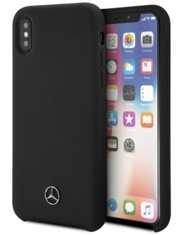 Накладка Mercedes Silicone line Hard iPhone X/XS (Цвет: Black)