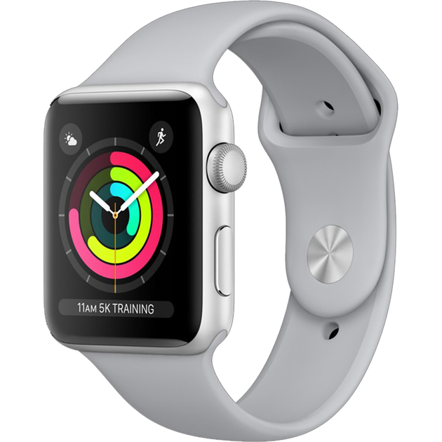 Умные часы Apple Watch Series 3 38mm Aluminum Case with Sport Band (Цвет: Silver/Fog)