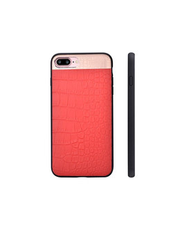 Чехол-накладка Comma Croco 2 Leather Case для смартфона iPhone 7 Plus/8 Plus (Цвет: Red)