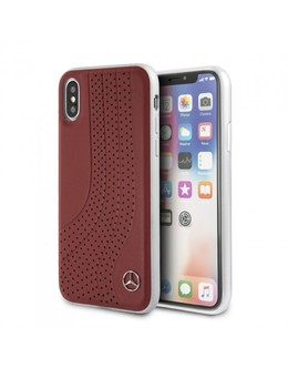 Накладка Mercedes New Bow II Hard Leather iPhone X/XS (Цвет: Red)