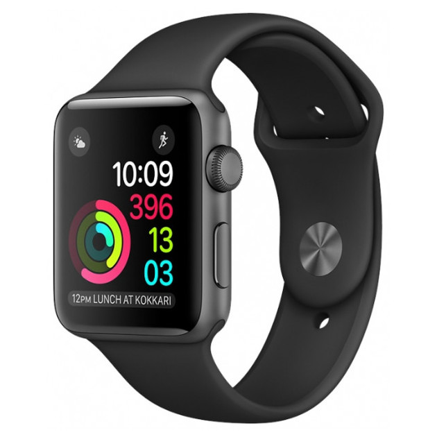 Умные часы Apple Watch Series 1 38mm with Sport Band (Цвет: Space Gray/Black)
