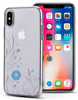 Накладка Devia Crystal Petunia case iPhone X/XS (Цвет: Silver)