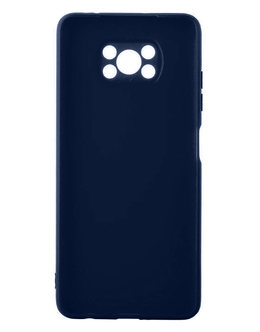 Чехол-накладка Alwio Soft Touch для смартфона Pocophone Poco X3 NFC (Цвет: Dark Blue)