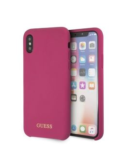 Накладка CG Mobile Guess Silicone Hard iPhone X/XS (Цвет: Pink)
