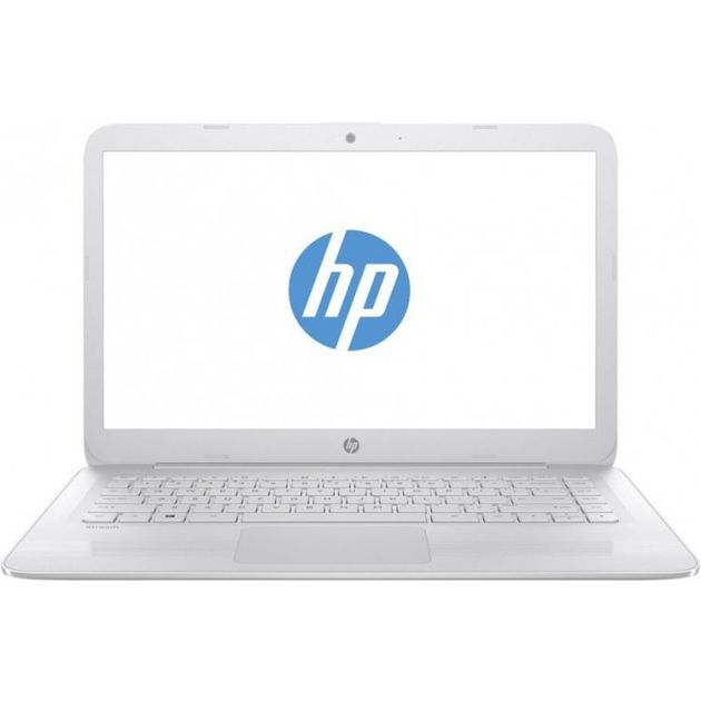 Ноутбук HP Stream 14-ax013ur 14(1366x768)/Intel Celeron N3060(1.6Ghz)/2048Mb/32Gb SSDGb/noDVD/Int:Intel HD Graphics/Cam/BT/WiFi/41WHr/war 1y/1.44kg/Snow White/W10