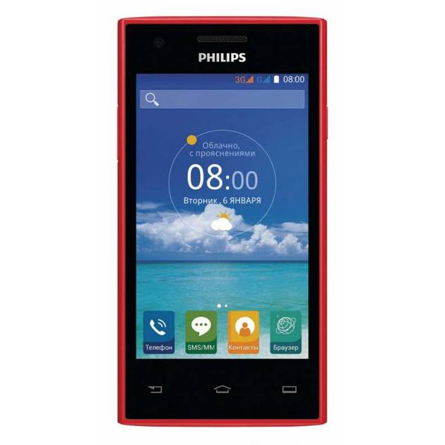Смартфон Philips S309 8Gb (Цвет: Red)