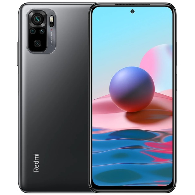 Смартфон Xiaomi Redmi Note 10 4/64Gb RU (Цвет: Onyx Gray)