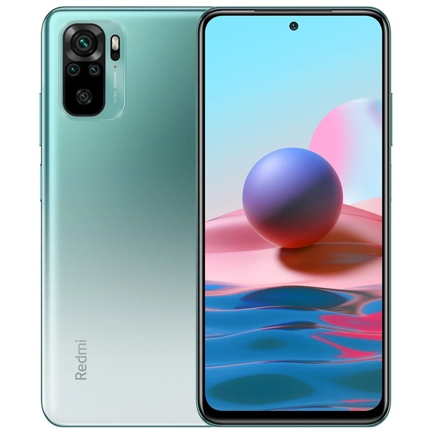 Смартфон Xiaomi Redmi Note 10 4/64Gb RU (Цвет: Lake Green)