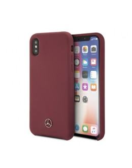 Накладка Mercedes Silicone line Hard iPhone X/XS (Цвет: Red)