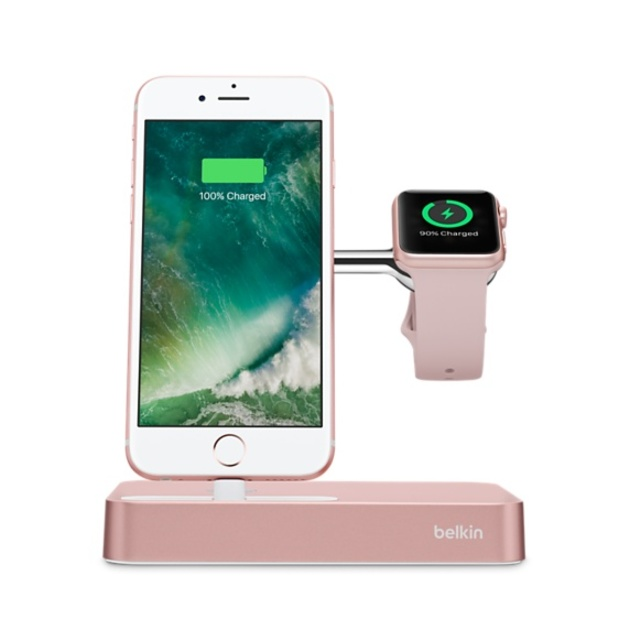Док-станция Belkin Charge Dock for Apple Watch + iPhone F8J183 (Цвет: Rose Gold) (F8J183VFC00-APL)