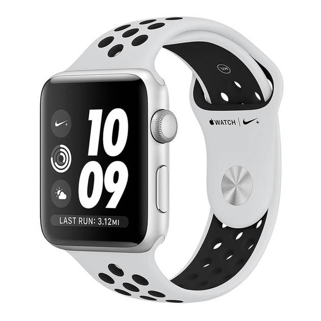 Умные часы Apple Watch Series 3 38mm Aluminum Case with Nike Sport Band (Цвет: Silver/Pure Platinum and Black)