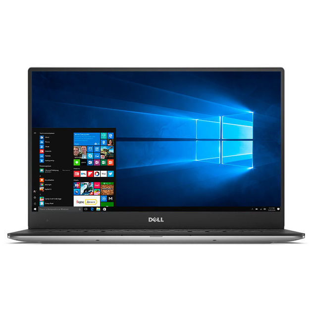 Ультрабук Dell XPS 13 Core i7 8565U/8Gb/SSD256Gb/Intel UHD Graphics 620/13.3/IPS/Touch/UHD (3840x2160)/Windows 10 Professional/silver/WiFi/BT/Cam