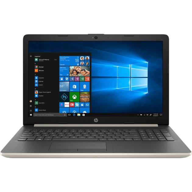 Ноутбук HP 15-da1053ur Core i7 8565U/12Gb/SSD256Gb/nVidia GeForce Mx130 4Gb/15.6/IPS/FHD (1920x1080)/Windows 10/gold/WiFi/BT/Cam