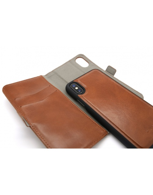 Чехол-книжка Devia Magic 2-in-1 Leather Case iPhone X/XS (Цвет: Brown)