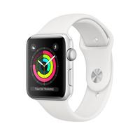 Умные часы Apple Watch Series 3 42mm Aluminum Case with Sport Band (Цвет: Silver/White)