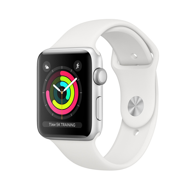 Умные часы Apple Watch Series 3 42mm Aluminum Case with Sport Band (Цвет: Silver/White)