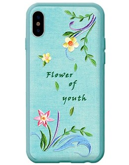 Накладка Devia Flower Embroidery Case iPhone X/XS (Цвет: Lanzh)