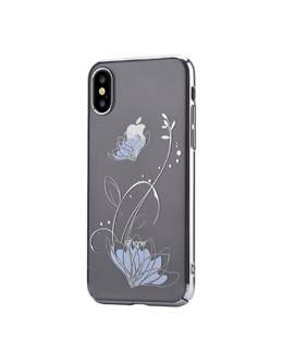 Накладка Devia Crystal Lotus case iPhone X/XS (Цвет: Silver)