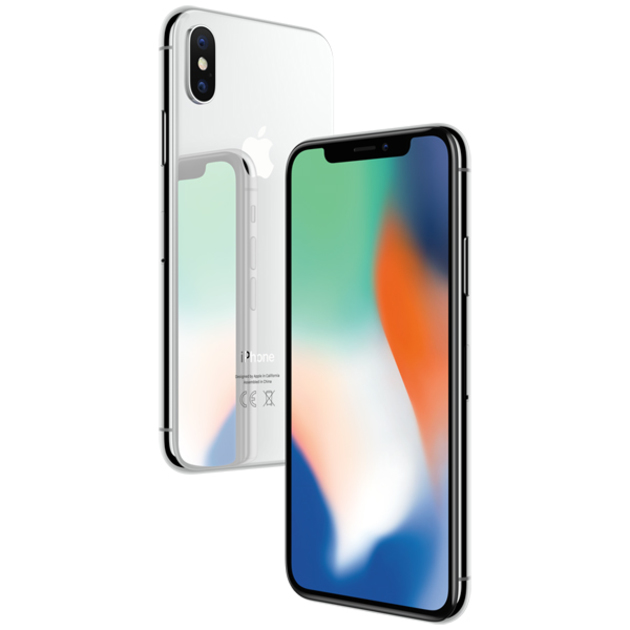 Смартфон Apple iPhone X 64Gb MQAD2RU/A (Цвет: Silver)