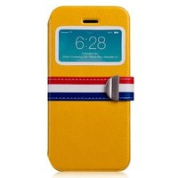 Чехол-книжка Momax Stand View French Style iPhone 5s (Цвет: Yellow)